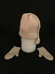Antique (1917) Baby Hat and Mittens--Knitted