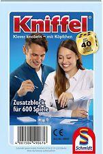 SCHMIDT 49067 - KNIFFELBLOCK, FÜR 600 SPIELE, NEU/OVP