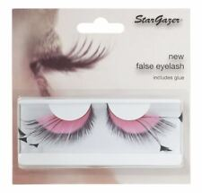 Stargazer False Feather Eyelashes #53 Pink and Black Side Feathers