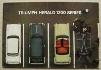 TRIUMPH HERALD 1200 SERIES Car Sales Brochure 1964-65 #342/1064/UK