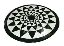 Geometrical Art Patio Table Top with Vintage Crafts Marble Coffee Table for Home
