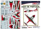 Decals Cessna T-37C 'Tweety Bird' - Asas Portugal Aerobatic Team - 1/72 Scale