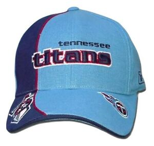 Reebok Tennessee Titans Logo Cap Adjustable Hat NFL Pro Line Team Colors