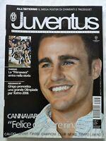 HURRA' JUVENTUS N. 3 MARZO 2005 + MEGA POSTER OMAR SIVORI TREZEGUET CANNAVARO
