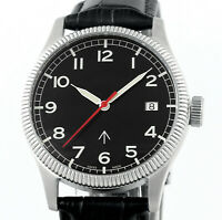 Swiss Military Broad Arrow Automatic Date Mens Stainless Steel Wrist Watch