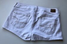 WHITE AMERICAN EAGLE SHORT SHORTS 10 W15.5/L2.5/R8.5 WOMENS STRETCHY JEAN CUTE