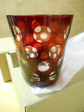 Set Of 6 Ruby Coin Spot Glasses