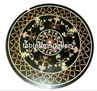 """24"""" Marble Coffee Table Top Precious Marquetry Inlay Stone Outdoor Decors B062"""