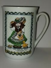Vintage 1984 Enesco Lucy Rigg Porcelain Coffee Tea Mugs Faith Hope & Charity Cup