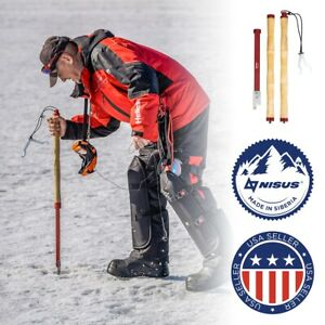 NISUS Folding Ice Fishing Chisel Heavy-Duty Lightweight Adjustable Length