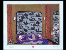 CHINOISERIE ART DECO, PAPIER PEINT FOLLOT - LITHOGRAPHIE 1930 - CHARLES FOLLOT