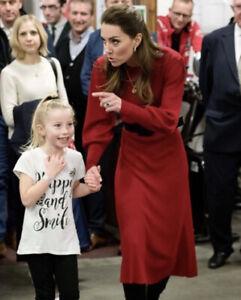 ZARA RED KNIT DRESS AS SEEN ON KATE MIDDLETON S