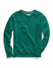 Champion Sweatshirt Women's Powerblend Fleece Boyfriend Crew V Notch Neck Loose