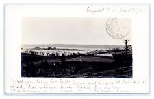 NOVA SCOTIA GUYSBOROUGH REAL PHOTO ISLAND VIEW 1905 TO GILDA BUCKLEY, ANTIGONISH