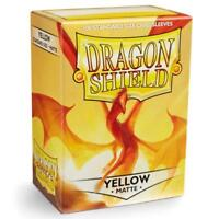 Dragon Shield Matte Yellow Card Protector Sleeves 100ct Magic Pokemon ATM11014