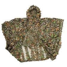 Ghillie Leafy Poncho Hunting Camo Camouflage 3D Solid Mesh Outdoor Camping M5O3