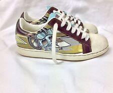 Christian Audigier Shoes Unisex Sneaker CROWN Skull Ed Hardy Cool Kicks WOMENS 7