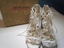 NIB American Rag Cie White Sandal Wedge Heel Strapped Sz 090M Org $59.50