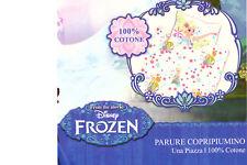 Parure Copripiumino Letto Singolo 1 Piazza Frozen Bianco 100% Cotone