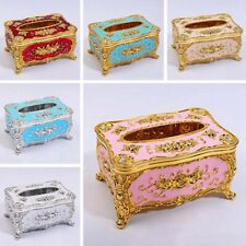 European Exquisite Tissue Box Case Cover Paper Napkin Holder Home Décor