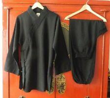 Top Damen Tai Chi Qigong Yoga Anzug Diagonal Kragen Baumwolle-Leinen Gr. 170