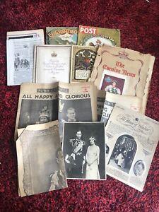 Vintage Original Queen Elizabeth Coronation 1953 Memorabilia & 1937 George VI