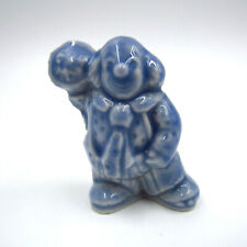 "Wade Miniatures Circus Clown Figurine w/ Pie, Red Rose Tea 1.5"" Figure"