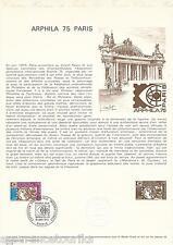 DOCUMENT PHILATÉLIQUE - YT 1783 - 1er JOUR 1974