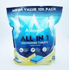 Astonish tous en 1 Lave-vaisselle Tablettes Pack 100 Mega Valeur Pack De 100