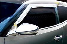 For Hyundai Veloster Chrome Wind Deflectors Set  (3 pieces) LEFT HAND DRIVE
