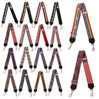 DIY Wide Jacquard Shoulder Bag Strap Adjustable For Colorful Handle Handbag Belt