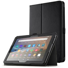 Amazon Fire HD 8 (2020) / HD 8 Plus Tablet Case,Flip Leather Stand Cover Black