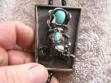 Vintage Silver Turquoise Bolo Tie