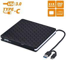 External DVD Drive, Amicool USB 3.0 Type-C CD DVD +/-RW Optical Drive USB C