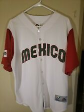Mexico Majestic 2017 World Baseball Classic WBC Jersey Large Excellent Condition