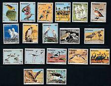 "Botswana ""BIRDS"" #303-320; COMPLETE SET OF 18; MNH; **PRISTINE**; CV $80+"