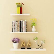 """New Floating Wall Shelf kit Set of 3 - White 12"""" /16""""/ 20"""" / 48"""" Shelves VP"""