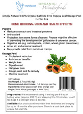 Simply Natural 100% Organic Caffeine Free Papaya Leaf Orange Peel Herbal Tea-30