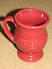 Excellent Longaberger pottery paprika Grandmug latte coffee pedestal cup / mug