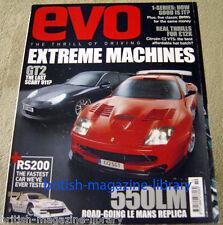Evo Magazine Issue 72 - Ferrari 550LM - Porsche 911 996 GT2 vs 9FF Turbo