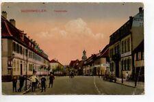 BOUXWILLER Buchsweiler  Bas Rhin Alsace CPA 67 enfants vélo haupstrasse couleur