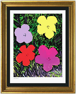 """Andy Warhol Signed & Hand-Numbered Ltd Ed """"Flowers"""" Lithograph Print  (unframed)"""