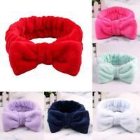 Bow Stirnband Flanell Haarbänder Elastisches Stirnband Mädchen Turban Bilden
