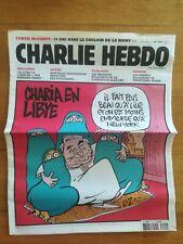 CHARLIE HEBDO N° 1010 26/10/2011 Charia en Lybie - Luz
