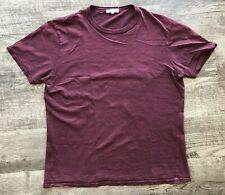 ALEX MILL Crew Neck T Shirt Men's Size Large Plum Purple
