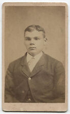CDV YOUNG MAN WITH PIERCING EYES AND POSHED UP NOSE. HANOVER, PA.