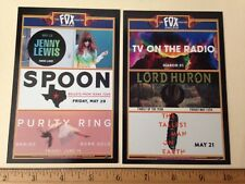 TV On The Radio Lord Huron Spoon Jenny Lewis Concert Flyer Card Handbill Oakland