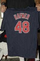 Travis Hefner Cleveland Indians T shirt Jersey 1st base DH Near mint XL majestic