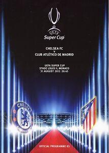 UEFA SUPER CUP 2012 Chelsea v Atletico Madrid - Official programme
