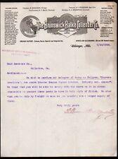 1902 Brunswick Balke Collender Co Billiard & Pool Tables Chicago IL Letter Head